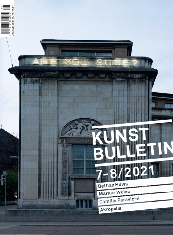 TITELBILD · Bethan Huws · A work of art without emotion is not a work of art/Are you sure?, 2020/2021, Kunst Museum Winterthur, Schenkung Galerieverein, Freunde Kunst Museum Winterthur ©ProLitteris.Foto: Reto Kaufmann