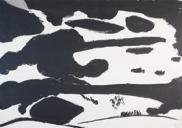 Zentralschweizerisches Wolkenspiel 1 (Rigi), 1967. Tusche auf Papier, rechts unten bezeichnet, datiert und signiert: zentralschweizerisches Wolkenspiel 1 (Rigi) 25.1.1967 Jürg Henggeler. 70 x 99,5