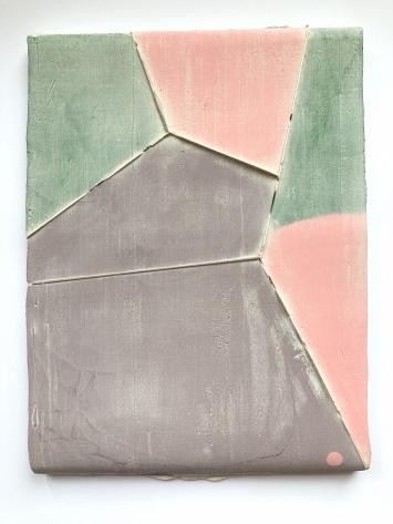 Andrea Heller, «untitled (Zones)», Nr. 5 / Serie, 2021.Gips, Tinte, Filz. 28 x 20.5 cm. Foto: Andrea Heller