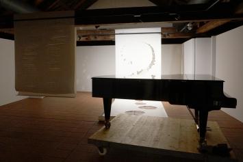 Ursula Rutishauser, Installationsansicht Testaufbau, 2021. Foto: Peter Hunziker