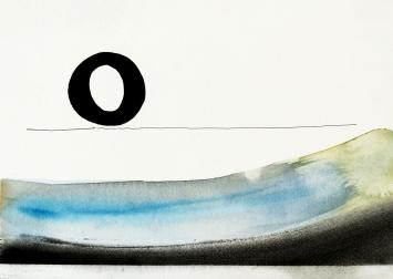 Hans Anliker, «ohne Titel», Tusche/Aquarell/Pigment, 2005. Foto: Katrin Anliker