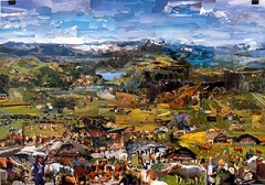 Hendrikje Kühne/Beat Klein · Hello from Switzerland, Collage, 2004, 70 x 100 cm