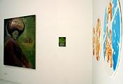 Gregory Forstner (links) und Norbert Bisky (rechte Wand) · Foto: Galerie Jocelyn Wolff