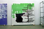 Olav Christopher Jenssen · Late Palindrome No. 02b (Continued), Acrylic on canvas, 2002/2004, 185 x 195 cm