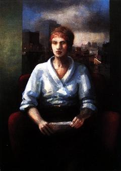 Ulrich Binder · Lesende, 1996, Öl auf Leinwand, 125 x 95 cm