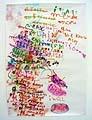 Annelise Coste · Explain T, 2004, Airbrush auf Papier, 176 x 124 cm, MMK Arnhem (NL)