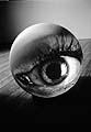 Tony Oursler · Eyes (Detail), 1996, Videoprojektion auf Fiberglas, Courtesy Tony Oursler und Metro Pictures, New York © Tony Oursler