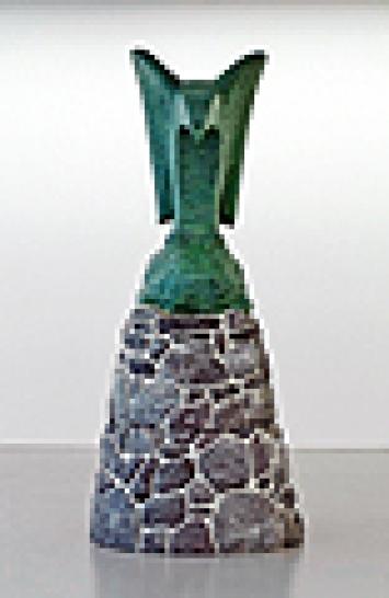 Valentin Carron · Sans titre, 2003, résine peinte, Courtesy Galerie Praz Delavallade, Paris
