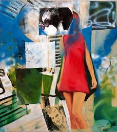 Paulina Olowska · Metaloplastyka IX, 2005, (Detail) Acryl und Öl auf Leinwand, 180 x 140 cm, Courtesy Galerie Daniel Buchholz, Köln