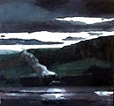 Marc-Antoine Fehr · Novembre à Pressy, 2004, Öl auf Leinwand, 150 x 160 cm