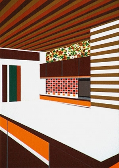 Clare Goodwin · Dave, 2004, Acryl auf Leinwand, 22 x 16 cm, Courtesy Galerie Staubkohler, Zürich