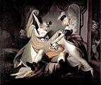 Johann Heinrich Füssli · Falstaff im Wäschekorb, 1792, Öl auf Leinwand, 137,5 x 170,5 cm, Kunsthaus Zürich