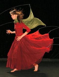 """Annaïk Lou Pitteloud · Echappée (Detail), 2005, Digitale Montage, Lambda Print auf Fotopapier unter Plexiglas, 310 x 160 cm, Auflage 5, im Rahmen der Ausstellung """"Elixiere"""", Diplom der HKB, Kunsthalle Bern"""