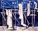 Andreas Walser · Baigneurs (Am Strand), 1930, Öl auf Leinwand, 130 x 162 cm, Bündner Kunstmuseum, Chur
