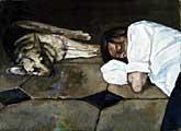 Marc-Antoine Fehr · Autoportrait avec Rita, 2005, Öl auf Karton, 81 x 111,6 cm, Courtesy Thomas Ammann Fine Art AG, Zürich