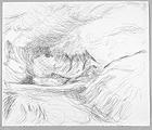 Glacier du Rhône, 2004, Bleistift auf Papier, 48 x 56,5 cm, alle Werkaufnahmen Andri Stadler
