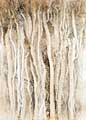 Cristina Fessler · Ashvem-Block, Eisenstaub und Gouache auf Papier, 40 x 28,5 cm, 2005/2006