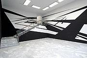 Deuce, Room-Drawing, 2005, Acrylfarbe, 10 x 9 x 6 m, Württembergischer Kunstverein, Stuttgart