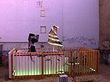 Riccardo Previdi · Green Light Pavilion, 2005; Lara Schnitger · Nein, 2005; Rainbow Satisfaction, 2005, Foto: Katja Eydel