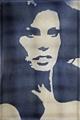 Bendicht Fivian · Raquel Welch, 1968, Kunstharz auf Nylon, 124 x 124 cm