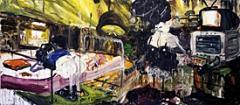 Bend over, 2006, Öl auf Leinwand, 240 x 540 cm, Courtesy Galerie Bob van Orsouw, Zürich