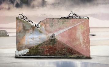 Sandra Senn, «Zwischen zwei Meeren», 2017. Bild: Sandra SennPigmentprint auf Hahnemühlepapier, 162 x 100 cm
