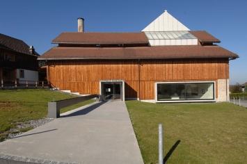 Kunsthalle Ziegelhütte, Ansicht gegen Westen©Heinrich Gebert Kulturstiftung Appenzell
