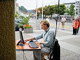 Andres Bossard bei der Arbeit in Luzern
