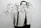 History of Masculinity, 2006, dessin sur papier, 29,7 x 42 cm © Marc Bauer