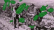 Andres Lutz & Anders Guggisberger · Pflanzung, aus der Serie «Die Queen im Louvre», 2003-07, Mischtechnik auf Zeitungspapier auf Karton, variable Grösse, Courtesy Galerie Friedrich, Basel, © ProLitteris, Zürich