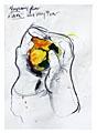 Erik vAn Lieshout · Ohne Titel, 2005, aus der Serie «Up!», Mischtechnik auf Papier, 42 x 29,5 cm, Sammlung Kunsthaus Zürich, Courtesy Galerie Bob van Orsouw, Zürich, © 2007 Erik van Lieshout