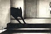 Marcel van Eeden · The Death of Matheus Boryna, Ohne Titel, 2006/2007, Negrostift und Buntstift auf Papier, 19x28 cm, gerahmt, Courtesy Galerie Bob van Orsouw, Zürich
