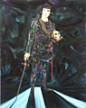 Nicole Eisenman · Hamlet, 2007, Öl auf Leinwand, 208.28 x 165.1 cm, Courtesy Nicole Eisenman, Susanne Vielmetter, Los Angeles Projects