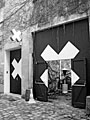 Der Eingang zum Centre Culturel Suisse (Theatersaal und Ausstellungsräume) an der Rue des Francs-Bourgeois 38, Paris, Foto: René Walker