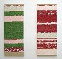 Danica Phelps · Installation View Stripe Factory, Juli 2007 und August 2007, Collage auf Holz, © Galerie Rotwand, Zürich