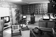 Deconstructing Eden, die gute Stube mit Videos von: AURELIO KOPAINIG, STEFFENSCHÖNI, CATALIN FLOERSCU und CHRISTIAN FALSNAES, 2007, Foto: Alex Meszmer