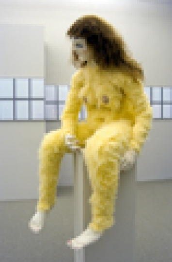 Alma, 2007, nach der Puppe von Oskar Kokoschka (1919), Höhe 168 cm, Foto: Jeremy Bierer, alle Aufnahmen © Denis Savary, Courtesy Galerie Xippas, Paris