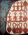 Philip Taaffe · Written on the Bay, 1988, Mixed Media auf Leinwand, 179 x 146 cm, Privatsammlung