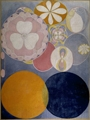 Hilma af Klint · The Ten Greatest,No. 2, Childhood, 1907, Tempera on paper pasted on canvas, 328 x 240 cm, The Hilma af Klint Foundation, Stockholm