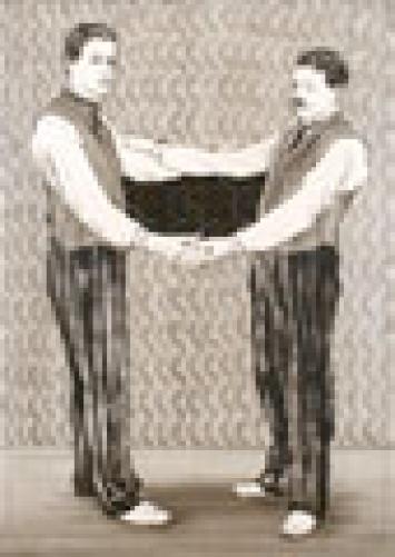 Geheimnis Öl auf Leinwand, 150x105 cm, 2007