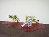 o.T. Acrystal (Gips-/Acrylmischung), Karton, Acrylfarbe, Sand, ca. 100x500x250 cm, 2007 Foto: Christine Zufferey