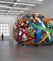Beat Zoderer · Flicken-Pavillon Nr.1/08, 2008, Acryllack auf Alublech, 440 x 770 x 580 cm, Temporäre Installation, Haus Konstruktiv.?Foto: Heinz Unger