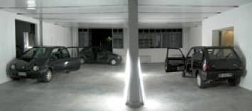 Dafne Boggeri · Vorrei che il cielo fosse bianco di carta, 2008, Installazione site specific, Careof, Milano