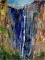 Franz Wanner · Dunkelbach, 2007, Pigment auf Leinwand, 229 x 170 cm