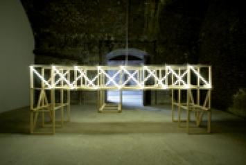 Davide Cascio · EN Quasi Bridge, 2008, Installation view at FormContent, London. Photo: Alexandre Zveiger