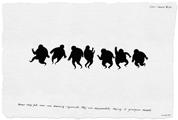 Nedko Solakov · Fears, 2006-2007, Serie von 99 Zeichnungen, Tusche, Lavierung auf Papier, 19 x 28 cm