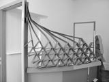 Hannes Brunner · Mach 2 - Geschwindigkeitsunschärfe, 2008, Raum-Zeit-Skulptur, (Ausschnitt)