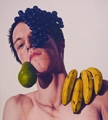 Florian Bühler · Self-Portrait and Fruit Still-Life All in One, 2009