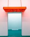 Philippe Parreno · Small Version of Guggenheim Marquee, 2008, Acrylglas, Stahlrahmen, Glühlampen, Neonröhren, 150 x 200 x 20 cm