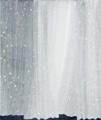 Nanne Meyer · Vorhang, 2008/09, Dispersion auf Makulatur, 29,5 x 24,8 cm